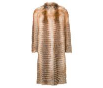 Mittellanger Mantel mit Fuchspelzbesatz