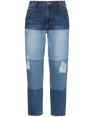 Boyfriend-Jeans mit hohem Bund