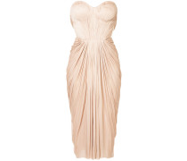 gathered pleated design dress