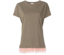 ostrich feather trim T-shirt