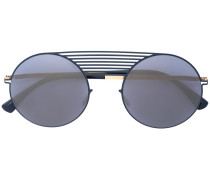 round frame aviator sunglasses