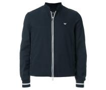 contrast-trim bomber jacket