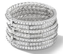 18kt white gold diamond stackable ring