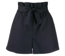 Paperbag-Shorts mit Nadelstreifen