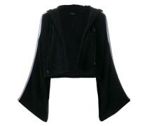 Kimono-Jacke mit Logo-Streifen