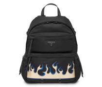 Rucksack mit Flammen-Print