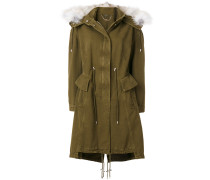 fox fur trim hooded jacket