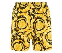 Pyjama-Shorts mit Barocco-Print