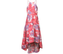 long floral flared dress
