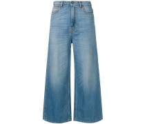 cropped palazzo jeans