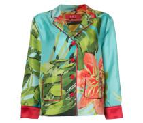 Pyjama-Hemd mit Farn-Print