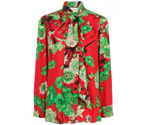 Crepe-de-Chine-Hemd mit Blumenmuster