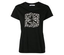 '4G' T-Shirt mit Distressed-Saum