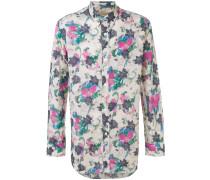 Button-down-Hemd mit floralem Print