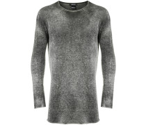 faded round neck jumper