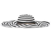 Gestreifter Hut mit breiter Krempe