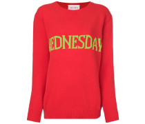 'Wednesday' Intarsien-Pullover