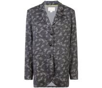 Boyfriend-Blazer mit Camouflage-Print