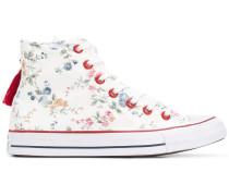 tassle detail floral print sneakers