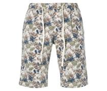 leaf print bermuda shorts
