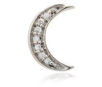 14kt 'Crescent Moon' Weißgoldohrring mit Diamanten
