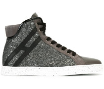 - High-Top-Sneakers mit Paillettenbesatz - women