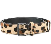 Gürtel mit Leopardenmuster