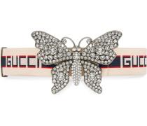 Gürtel mit -Streifen und Schmetterling