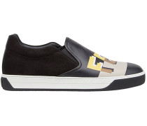Slip-On-Sneakers mit Logo-Print