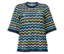 chevron knit T-shirt