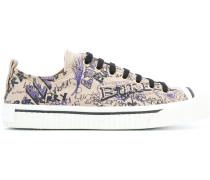 Sneakers mit Kritzel-Print