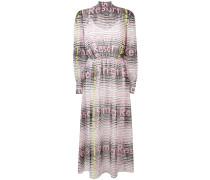Gestreiftes Kleid mit Schluppe