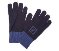 Handschuhe mit Intarsien-Logo