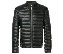 puffer biker jacket