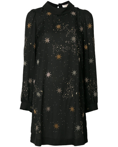 star embroidered dress