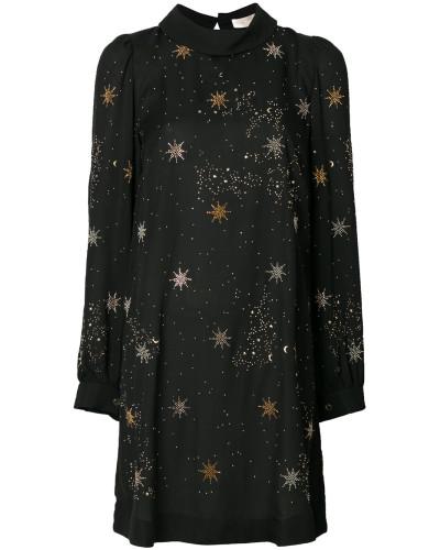 Kleid mit aufgestickten Sternen