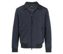 zipped bomber jacket
