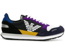 Colour-Block-Sneakers mit Logo