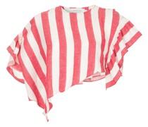 asymmetric striped cropped top