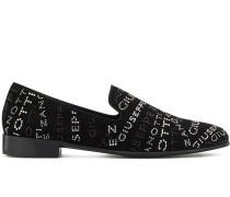 embellished logo loafers