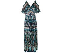 Cold-Shoulder-Kleid mit langem Schnitt