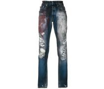 tiger print jeans