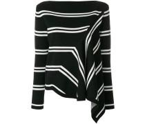 Asymmetrische Bluse mit Streifen