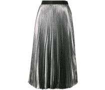dna lame pleated skirt
