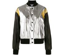 Cropped-Jacke im Metallic-Look