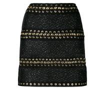 chain-embellished mini skirt