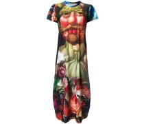 T-Shirt-Kleid mit Renaissance-Print