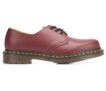 Derby-Schuhe mit Kontrastnähten
