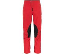 Schmale Cropped-Hose mit Streifen