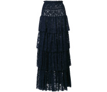 tiered lace maxi skirt